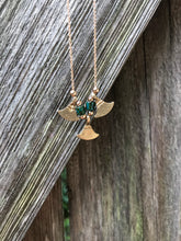 Dainty Brass Minimalist Necklace - Israeli Triangle