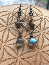 Labradorite Star Earrings