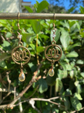 Citrine Lotus Earrings