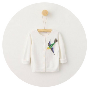 Beaded Bird Cardigan