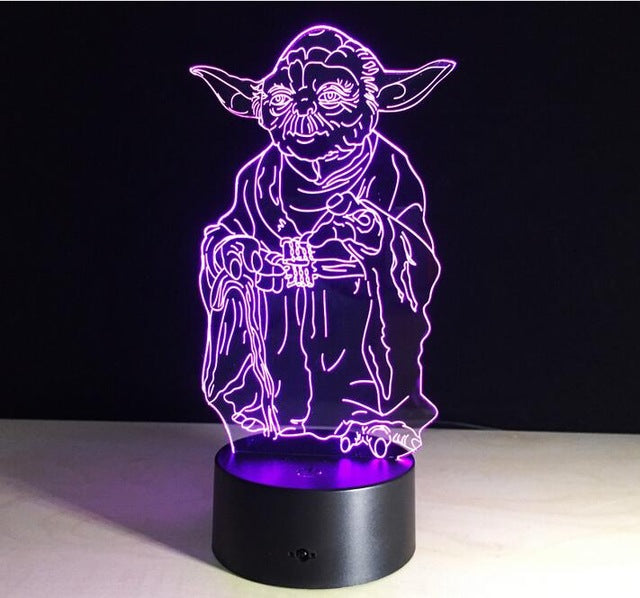 Creative Gifts Star Wars Lamp 3d Night Light Usb Led Table Desk