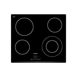 Glass-Ceramic Hob BOSCH PKF631B17E. 60 cm Black (4 cooking areas)