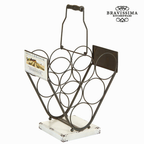 Bottle rack Iron (34 x 33 x 17 cm) - Art & Metal Collection by Bravissima Kitchen
