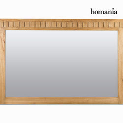 Mirror Mindi wood (120 x 80 x 3 cm) - Square Collection by Homania
