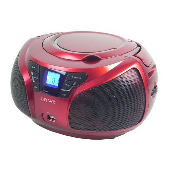 CD Radio Denver Electronics TCU-206RD Red