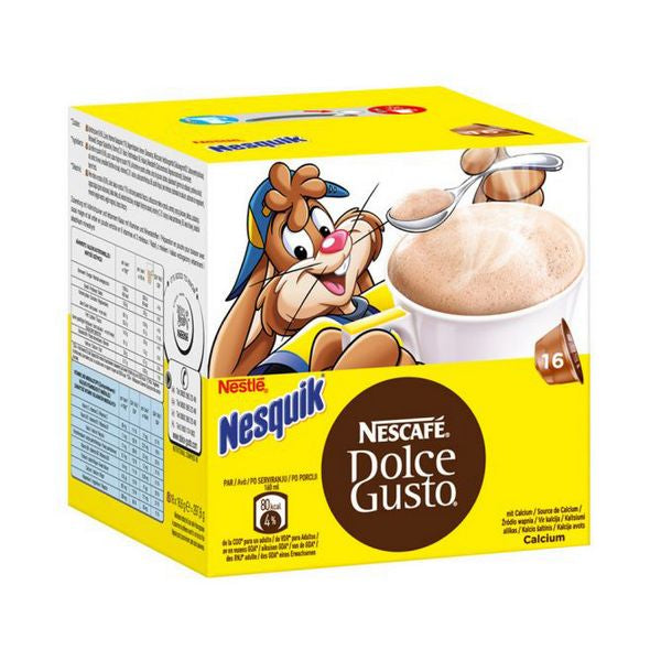 Coffee Capsules with Case Nescafé Dolce Gusto 62183 Nesquik (16 uds)
