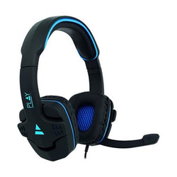 Gaming Headset with Microphone Ewent PL3320 Black Blue