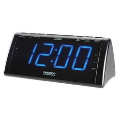 Radio Alarm Clock with LCD Projector Daewoo 222932 USB