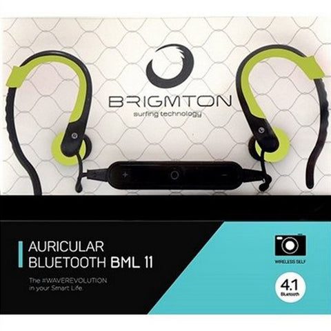 Bluetooth Headset with Microphone BRIGMTON BML-11-V Green