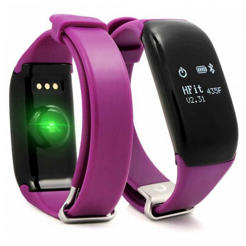 "Activity Bangle BRIGMTON BSPORT-14-M OLED 0.66"" Bluetooth 4.0 IP67 Android /iOS 26 g Purple"