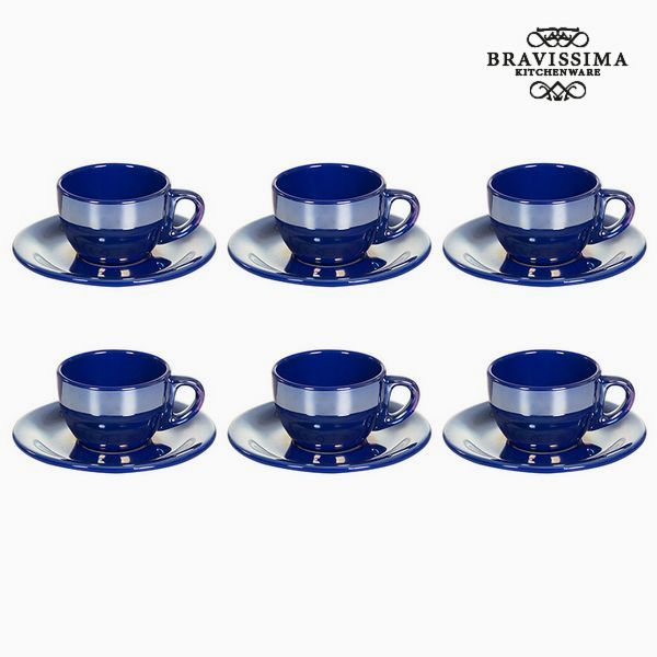 Tea set China crockery Blue (12 pcs) - Kitchen's Deco Collection by Bravissima Kitchen