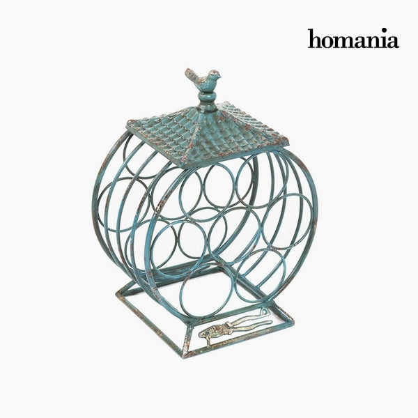Bottle rack Iron Fir wood (33 x 25 x 45 cm) by Homania