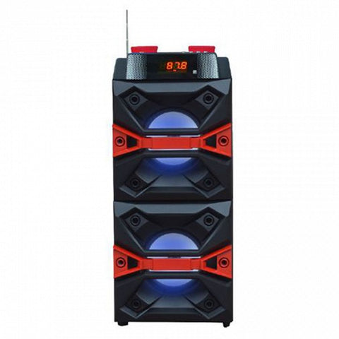 Bluetooth Speaker with Karaoke Microphone ICARUS 223660 10W Radio FM USB Black