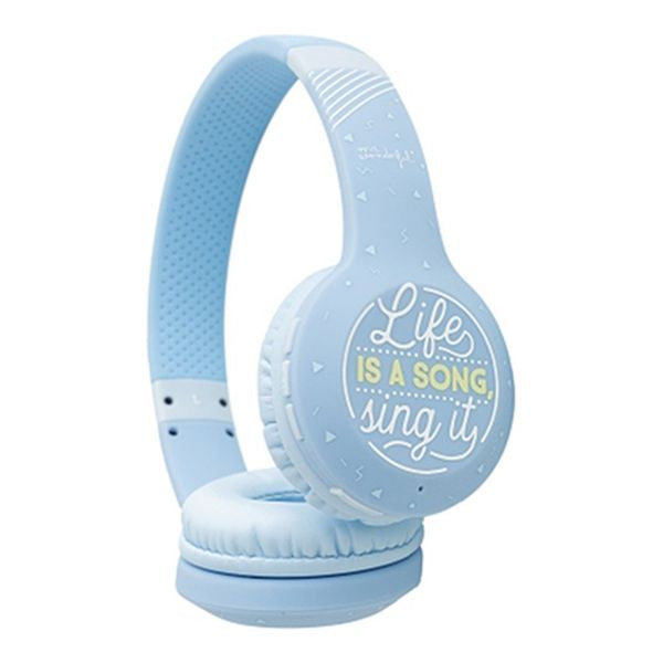 Bluetooth Headphones Sing it Mr. Wonderful MRAUR003 Blue