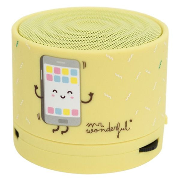 Bluetooth Speakers Mr. Wonderful MRSPK002 Bluetooth Yellow