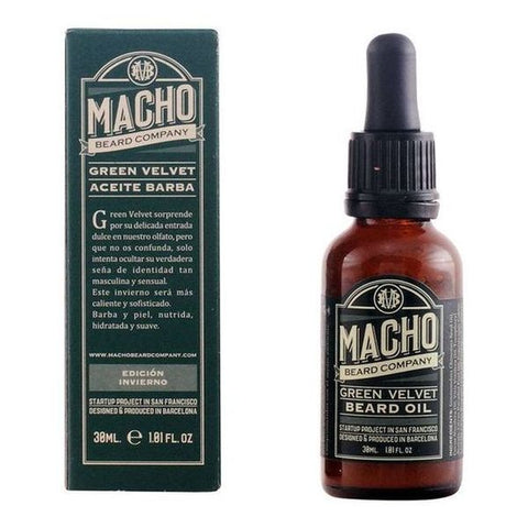 Beard Oil Green Velvet The Macho Beard Company