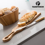 Bamboo Bread Cutting Board and Knife TakeTokio