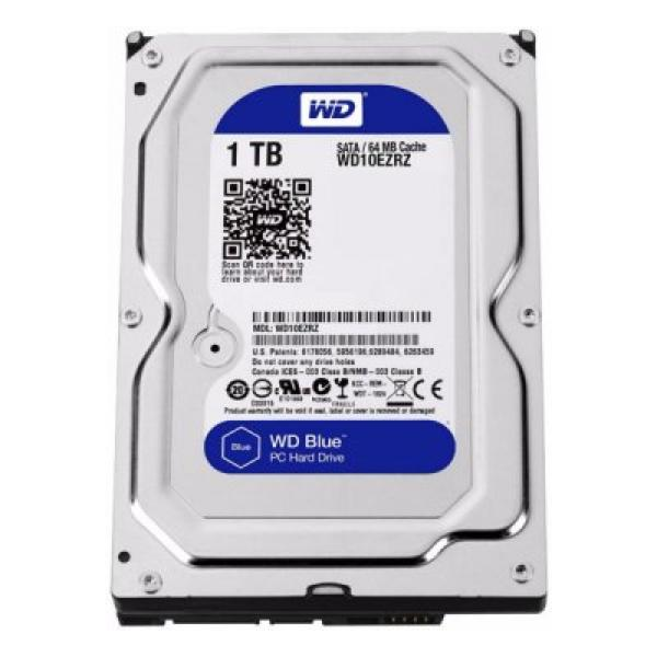 "Hard Drive Western Digital Blue WD10EZRZ 3.5"" 1 TB Sata III 5400 rpm Buffer 64 MB"