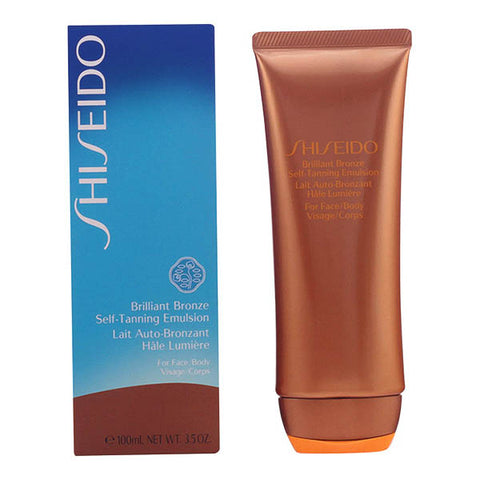 Shiseido - BRILLIANT BRONZE self-tanning emulsion face/body 100 ml