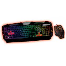 Keyboard with Gaming Mouse approx! APPCROME Black Red