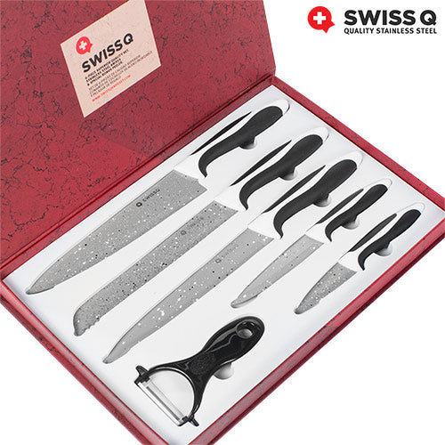 Swiss Q Stone Coated Knife Set (6 Pieces)