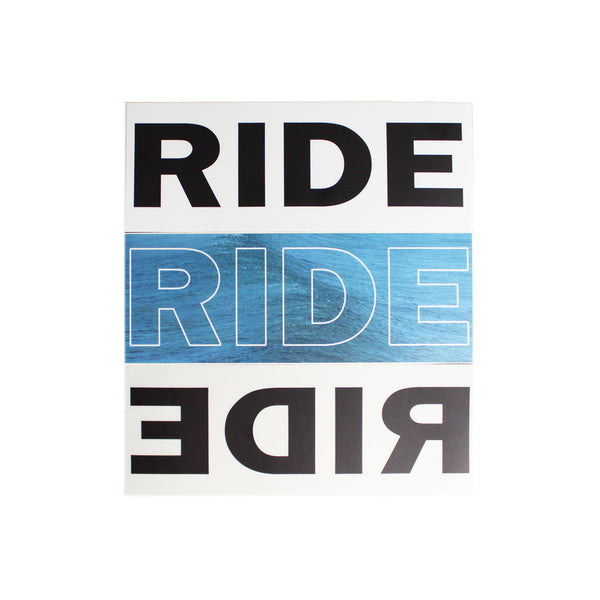 RIDE WINDOW/BUMPER STICKER SET