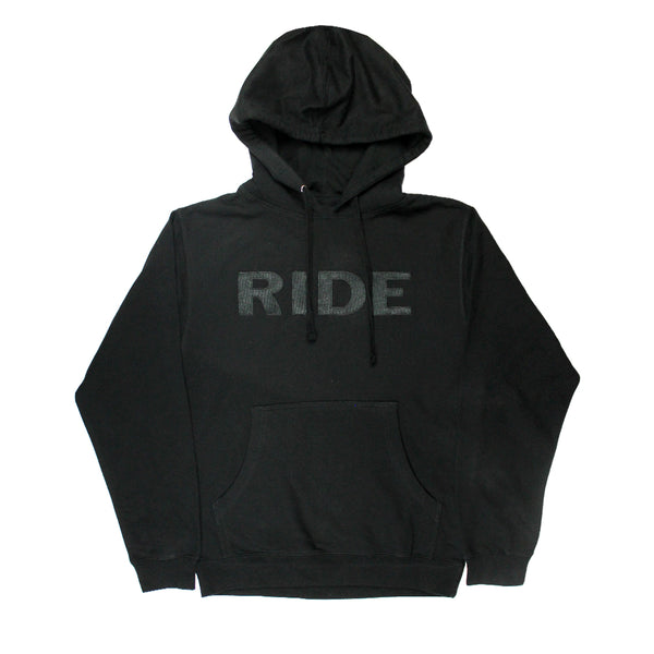 UNISEX BLACK EMBROIDERED HOODY