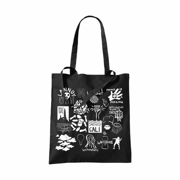 WEATHER DIARIES BLACK TOTE BAG