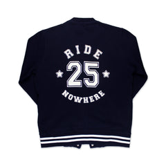 NAVY NOWHERE 25 VARSITY JACKET