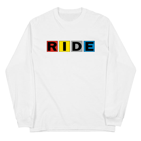 RIDE SQUARES WHITE LONG SLEEVE T-SHIRT