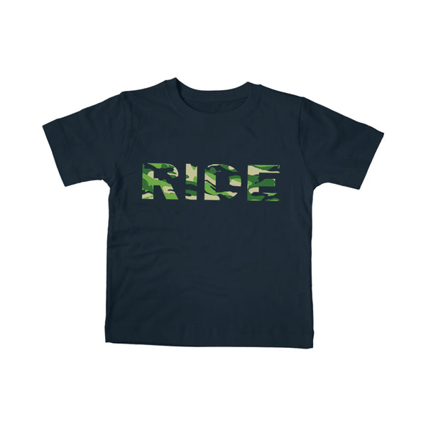 RIDE CAMO LOGO NAVY KID TEE