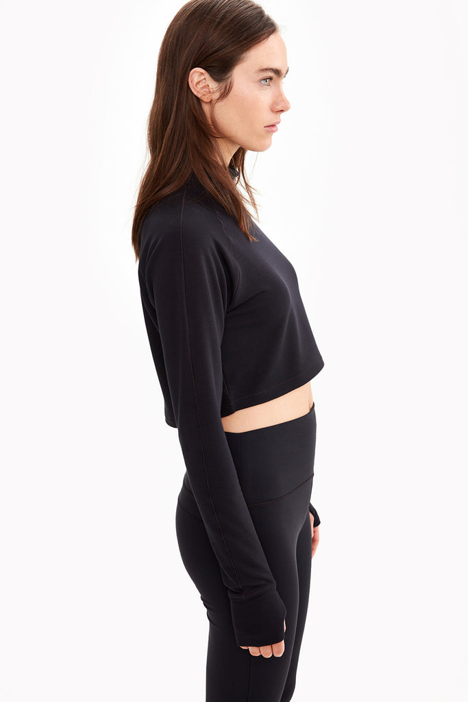 CRESCENT CROPPED LONG SLEEVE TOP