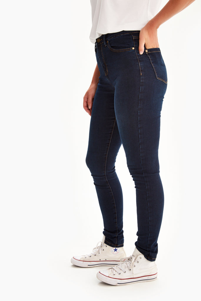 SKINNY LONG HIGH WAIST JEANS