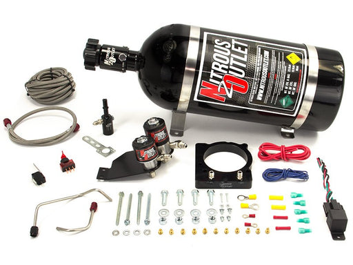 Nitrous Outlet Chrysler 6.4 85mm EFI Hemi Hardline Intake Plate System (10 lb. Bottle) - Gauge Performance