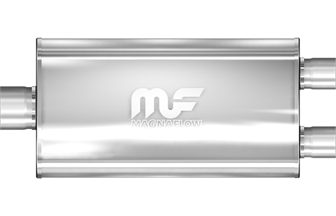 Magnaflow 5x11 Single In/Dual Out Stainless Steel Muffler - Gauge Performance