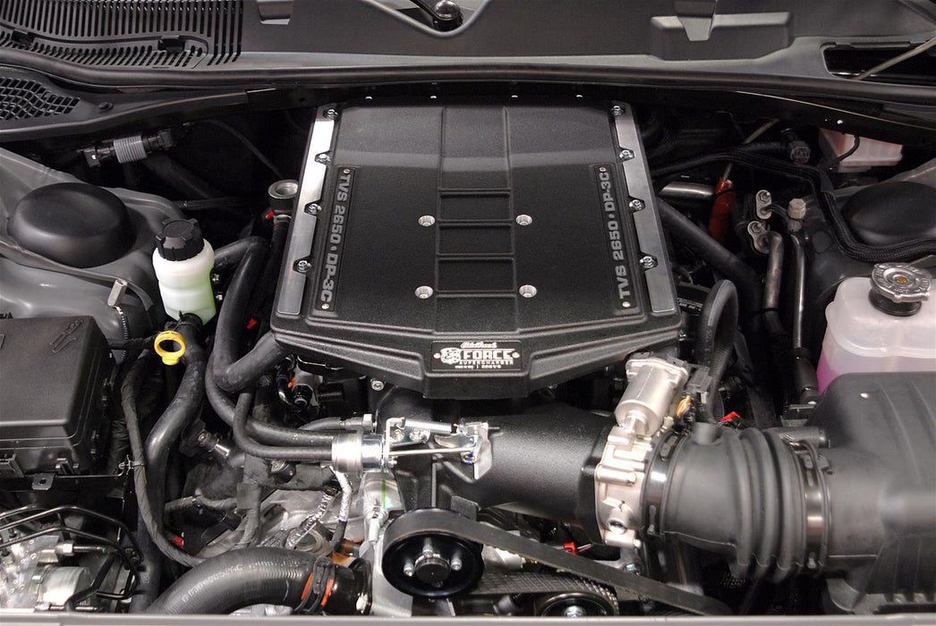 Edelbrock E-Force Stage 1 Supercharger System, No Tune - Charger/Challenger/300 6.1L HEMI '05-10 - Gauge Performance