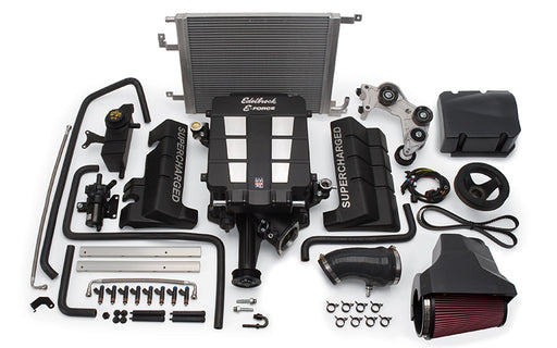 Edelbrock E-Force Stage 1 Supercharger System, No Tune - Charger/Challenger/300 5.7L HEMI '06-08 - Gauge Performance