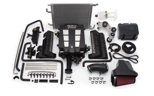 Edelbrock E-Force Stage 1 Supercharger System, No Tune - Charger/Challenger/300 5.7L HEMI '11-14 - Gauge Performance