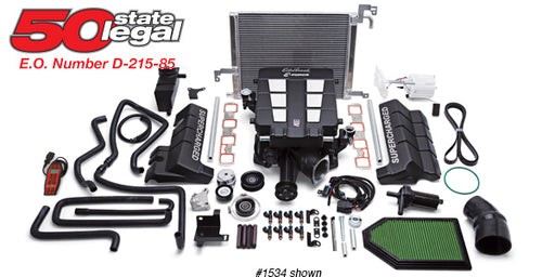 Edelbrock E-Force Stage 1 Supercharger System, No Tune - Charger/Challenger/300 5.7L HEMI '15-17 - Gauge Performance