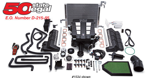 Edelbrock E-Force Stage 1 Supercharger System, No Tune - Charger/Challenger/300 6.4L HEMI '15-17 - Gauge Performance