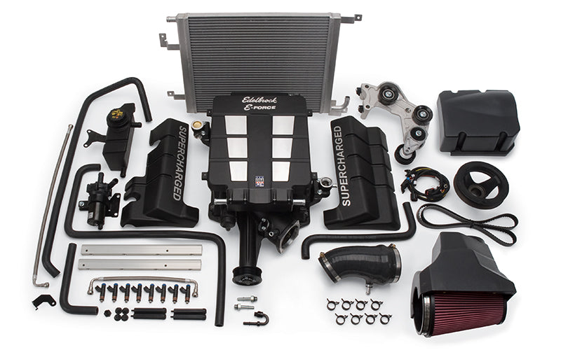 Edelbrock E-Force Stage 1 Supercharger System, No Tune - Charger/Challenger/300 6.4L HEMI '11-14 - Gauge Performance