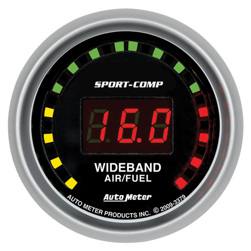 "Auto Meter Sport-Comp Wideband Air/Fuel Gauge - Digital; 2-1/16"" - Gauge Performance"