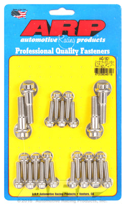 Oil Pan Bolt Kit, Stainless Steel, 12Pt- Chrysler HEMI 5.7/6.1/6.4L - Gauge Performance
