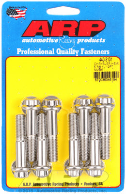 Motor Mount Bolt Kit, Stainless Steel, 12Pt - Chrysler HEMI 5.7/6.1/6.4L - Gauge Performance