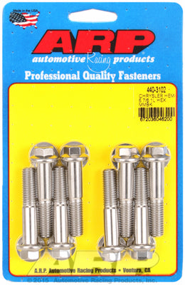 Motor Mount Bolt Kit, Stainless Steel, Hex - Chrysler HEMI 5.7/6.1/6.4L - Gauge Performance