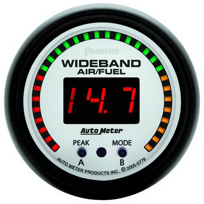 "Auto Meter Phantom Wideband Air/Fuel Ratio Gauge - Digital; 2-1/16"" - Gauge Performance"
