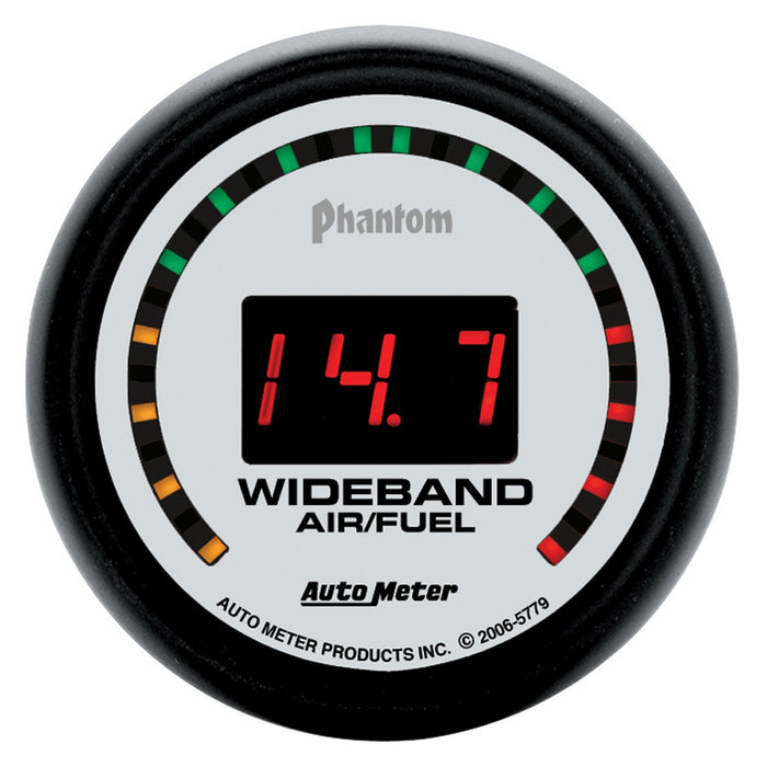 "Auto Meter Phantom Street Wideband Air/Fuel Ratio Gauge - Digital; 2-1/16"" - Gauge Performance"