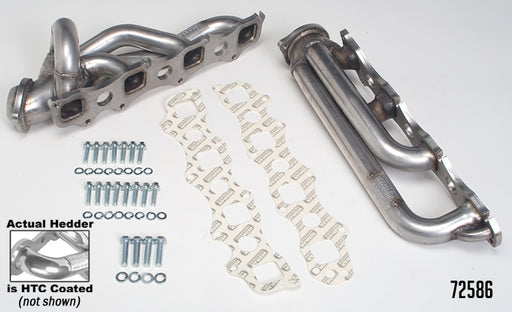 Hedman HTC Polished Silver Ceramic Stainless Steel Shorty Headers - Ram 1500 '03-08 - Gauge Performance