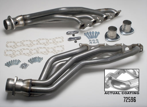 Hedman HTC Polished Silver Ceramic Stainless Steel Full Length Headers - Ram 1500 '03-08 - Gauge Performance
