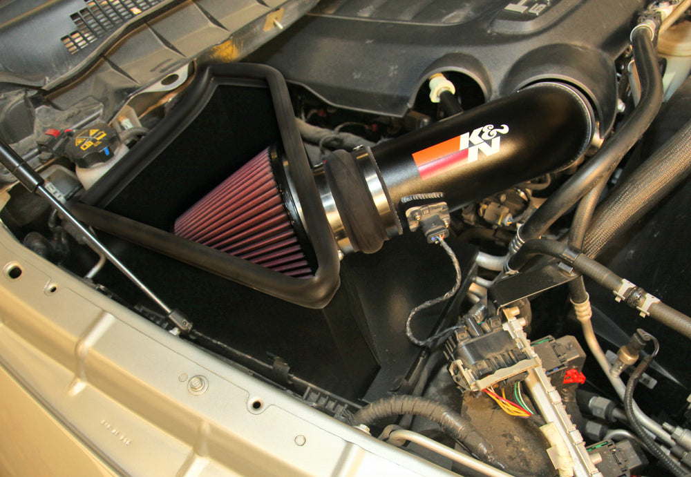 K&N High-Flow Intake Kit - Ram 2500 6.4L '14-18 - Gauge Performance
